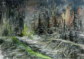 Nuclear winter by Taski-Guru