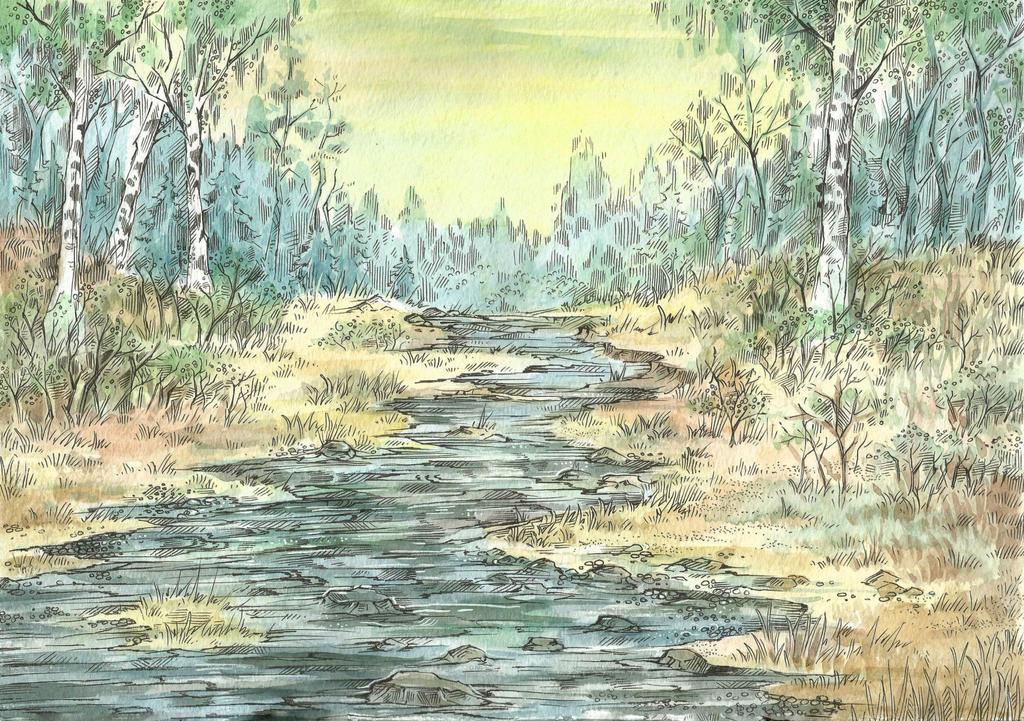 Birches by Taski-Guru