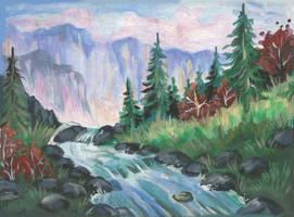 Mountain River by Taski-Guru