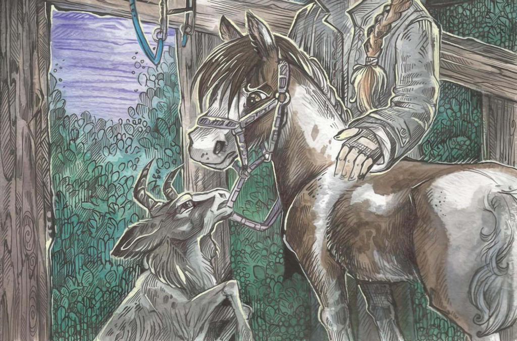 Goat Dasha and foal Samargant by Taski-Guru