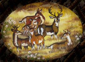 Deer Herd by Taski-Guru