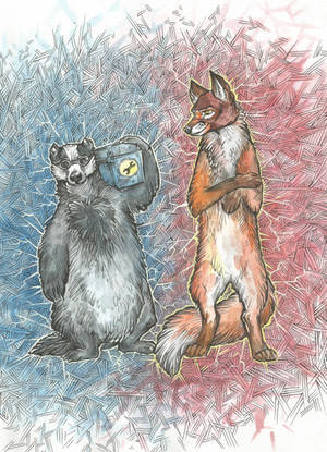 EngieBadger and SpyFox by Taski-Guru