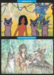 Mowgli and his Brothers (My Interpretation) by Taski-Guru