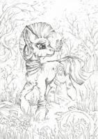 Zecora (Free   Line   Art) by Taski-Guru