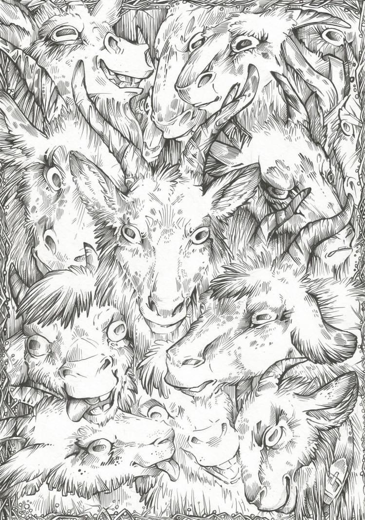 THIS IS... Goats! (Free Line Art) by Taski-Guru