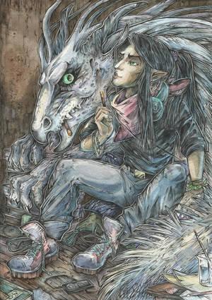 Demiurge and  Dragon by Taski-Guru