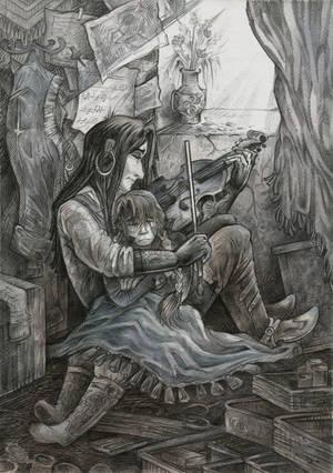 The sounds of the gray violin by Taski-Guru