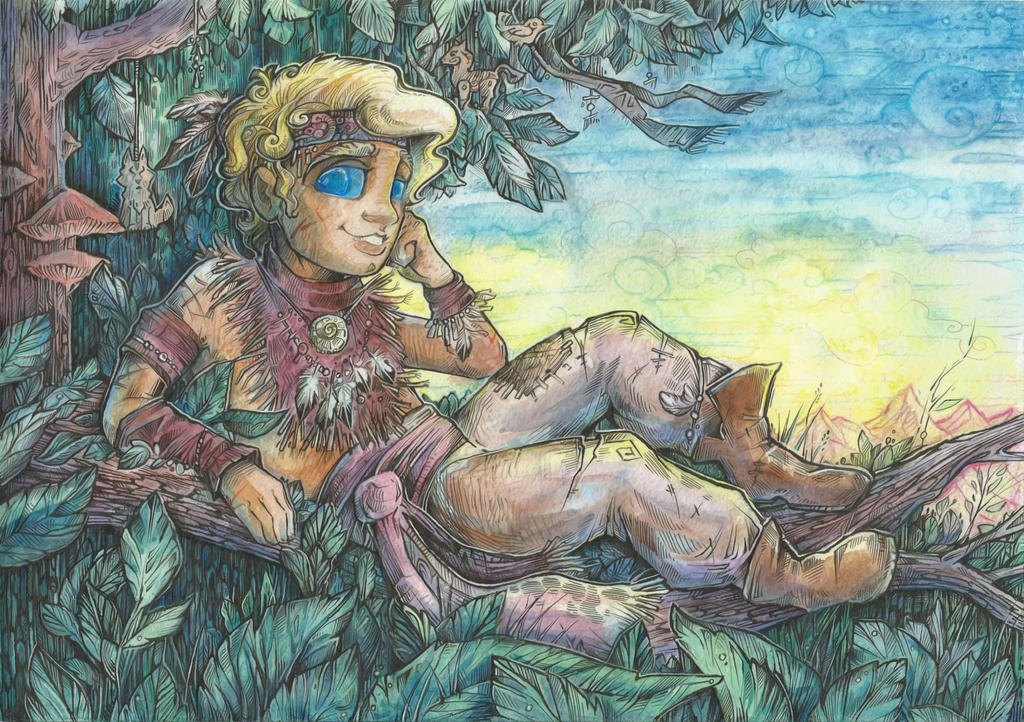 On a tree branch by Taski-Guru