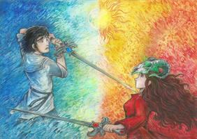 Battle of Sadness by Taski-Guru
