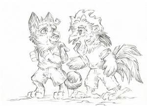 Best Brothers Ever (Line Art) by Taski-Guru