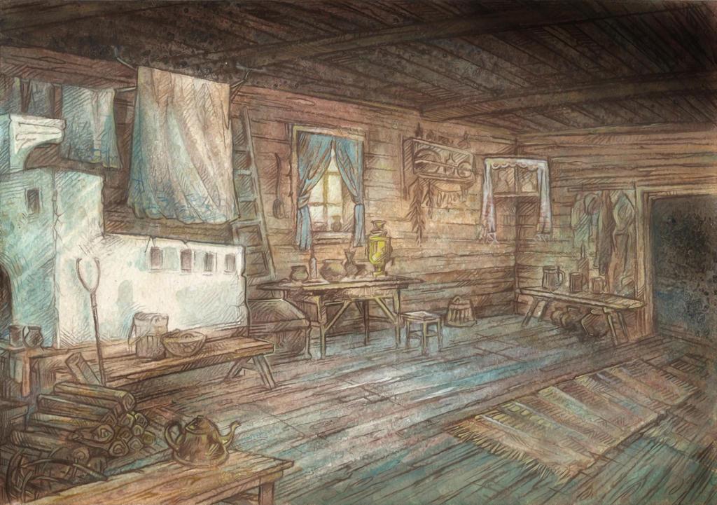 In the Hut by Taski-Guru