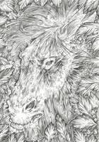 Bottom Headshot (Line Art) by Taski-Guru