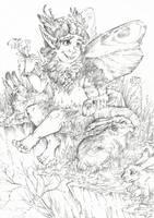 Robin Goodfellow (Line art) by Taski-Guru
