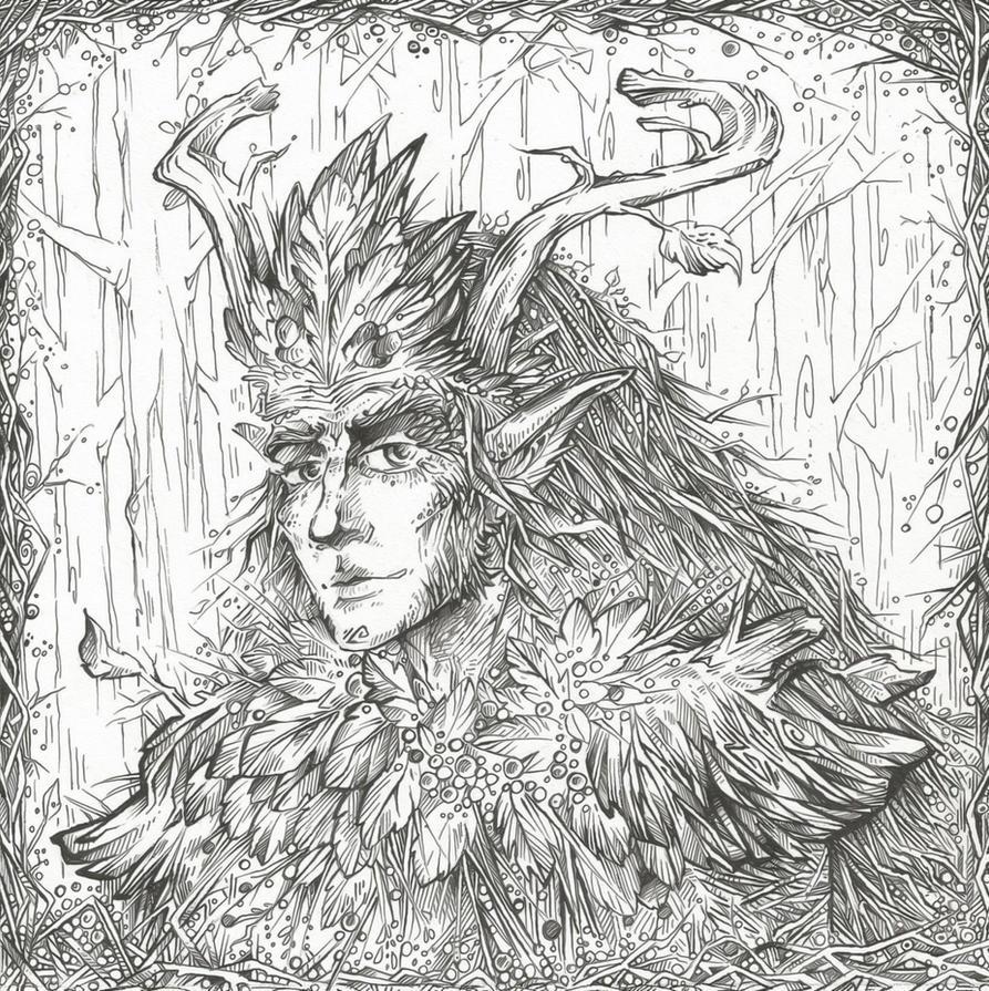 Oberon (Line art) by Taski-Guru