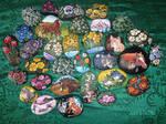 Paintings on rocks SALE! International shipping! by Taski-Guru