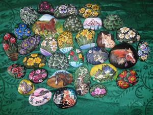 Paintings on rocks SALE! International shipping!