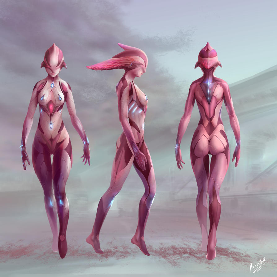 Character Design: Female in Biosuit by auruster
