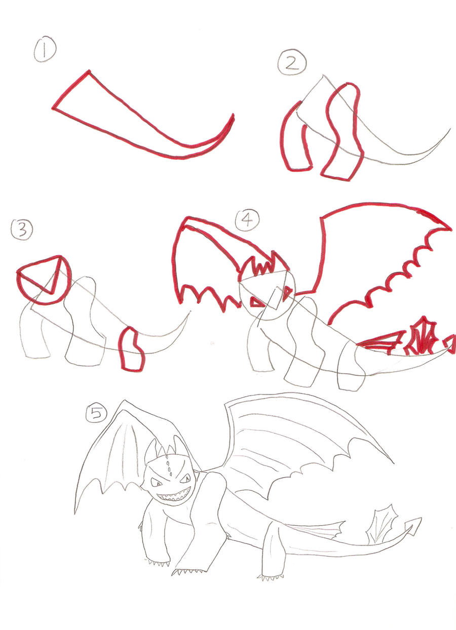 how to draw toothless wikihow