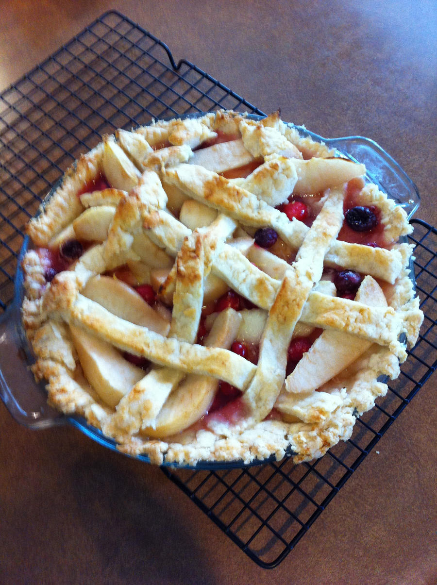 Pear and Cranberry Pie by zealousshadow on DeviantArt