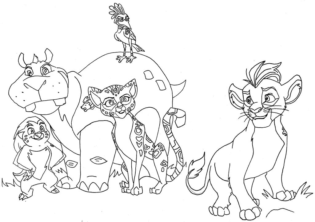 bunga lion guard coloring pages - photo#28