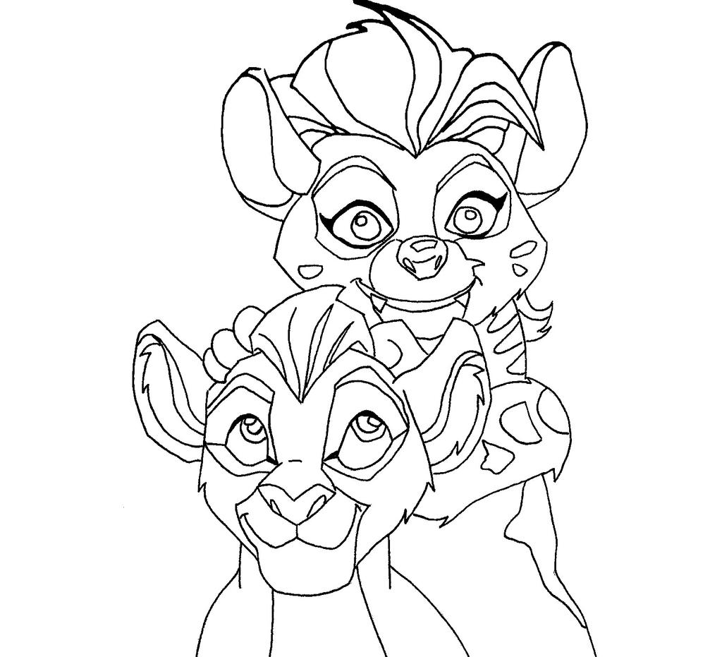 Free coloring pages lion guard - Kion And Jasiri By Zealousshadow Kion And Jasiri By Zealousshadow