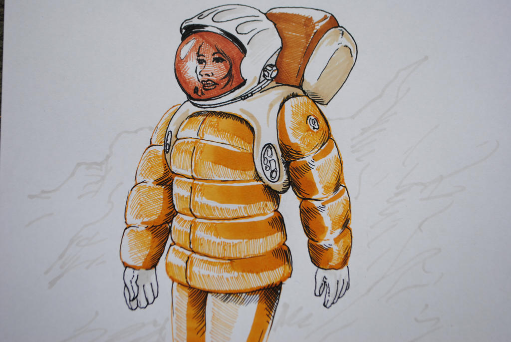 'Woman in Mars Spacesuit' by scipi06 on DeviantArt