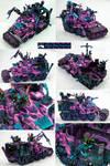 Pink Flame Ork Battlewagon