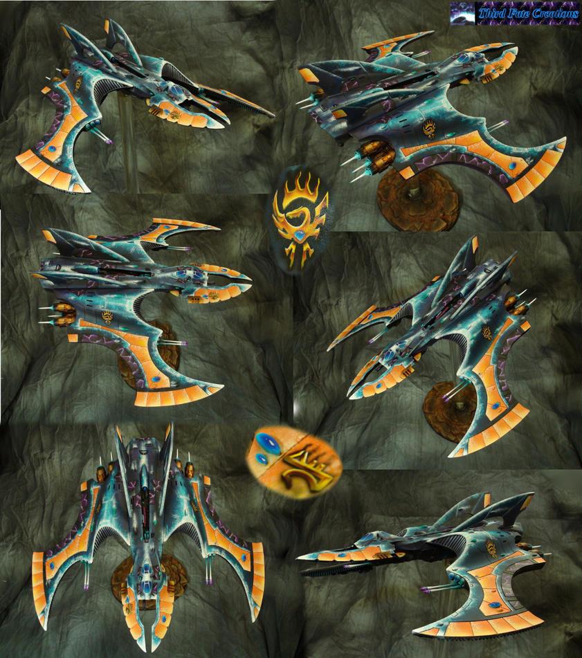 Eldar Vampire Raider by Atropos907