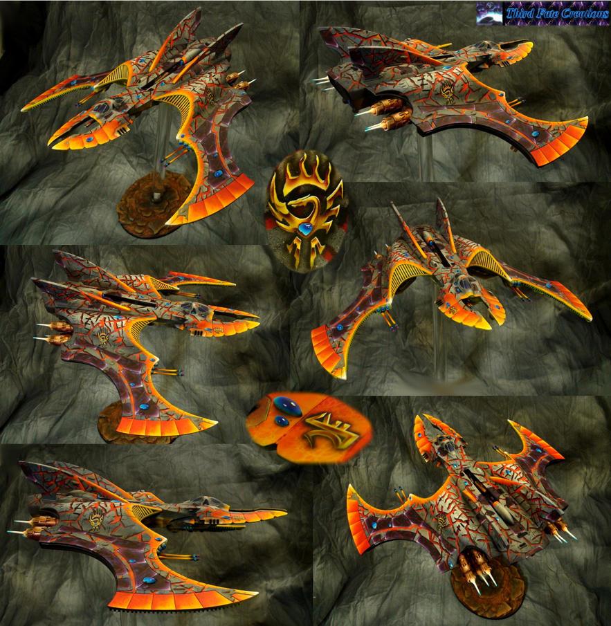 Eldar Vampire Raider: Fire by Atropos907