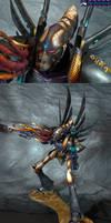 Buzzard Hunting: Eldar Phantom Titan by Atropos907