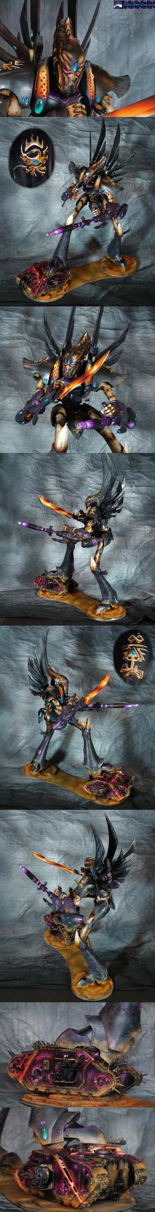 Slice n dice. Eldar Phantom Titan by Atropos907
