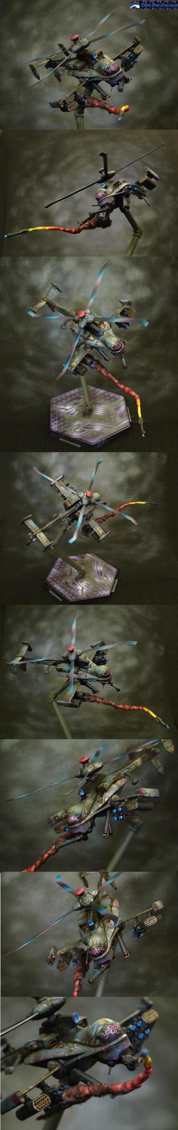 Jigabachi AV Cyberpunk Heli-Drone by Atropos907