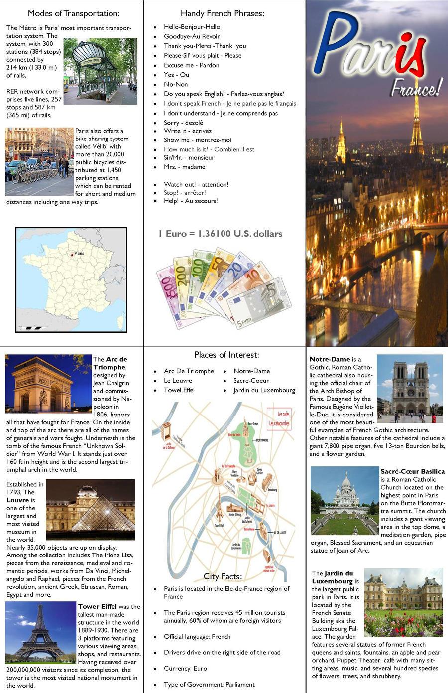 Paris Brochure By Hazel Almonds On Deviantart