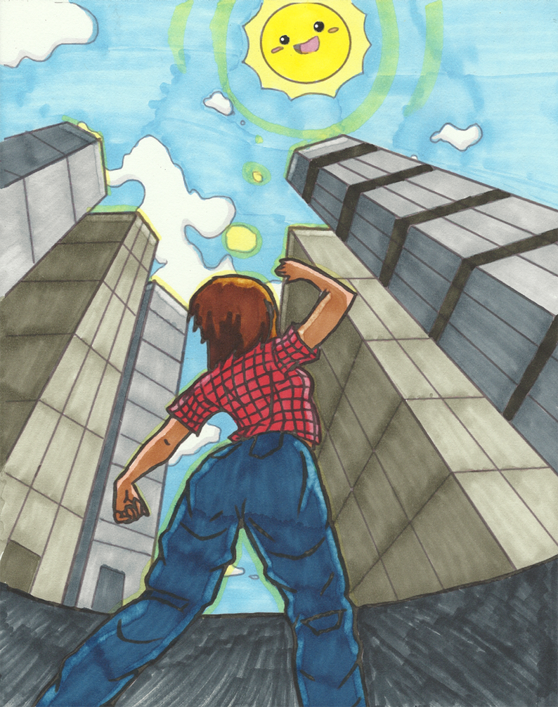 3 point perspective colored by hazel almonds on deviantart