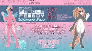 FEMALE + FEMBOY BASE PACK (plus humans)