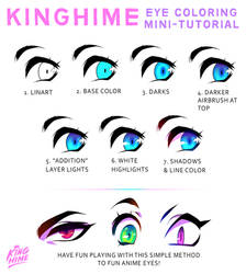 Mini-Tutorial: Kinghime's anime eyes by King-Hime