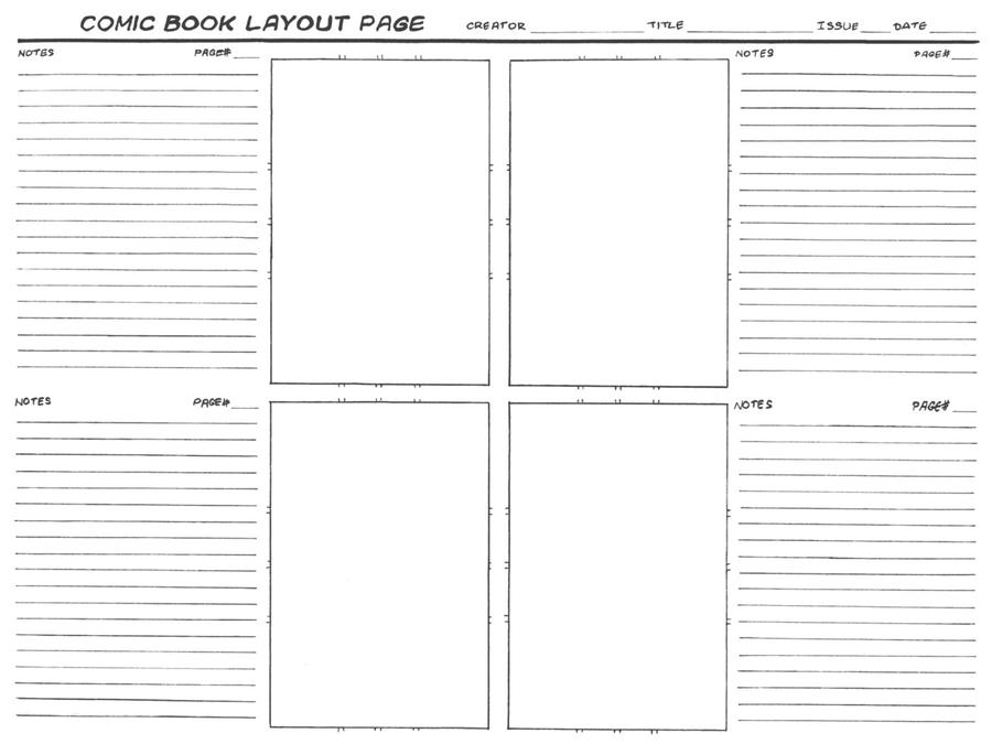 comic layout template by langepon on deviantart