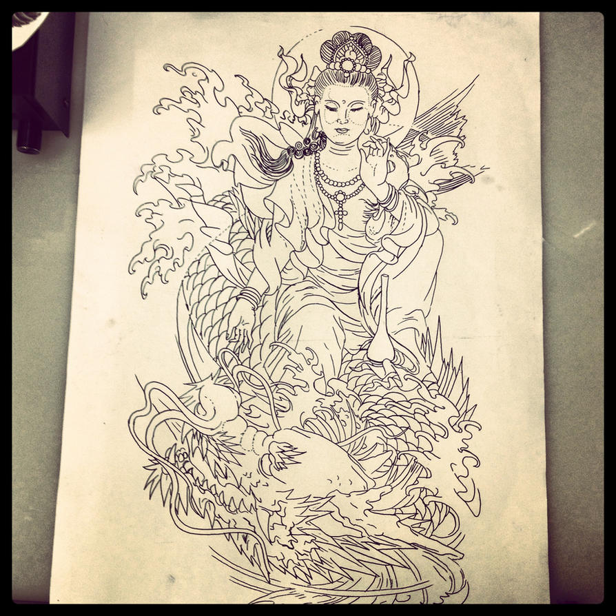 Traditional japanese tattoo design by dazzbishop on deviantart for Japanese tattoo art