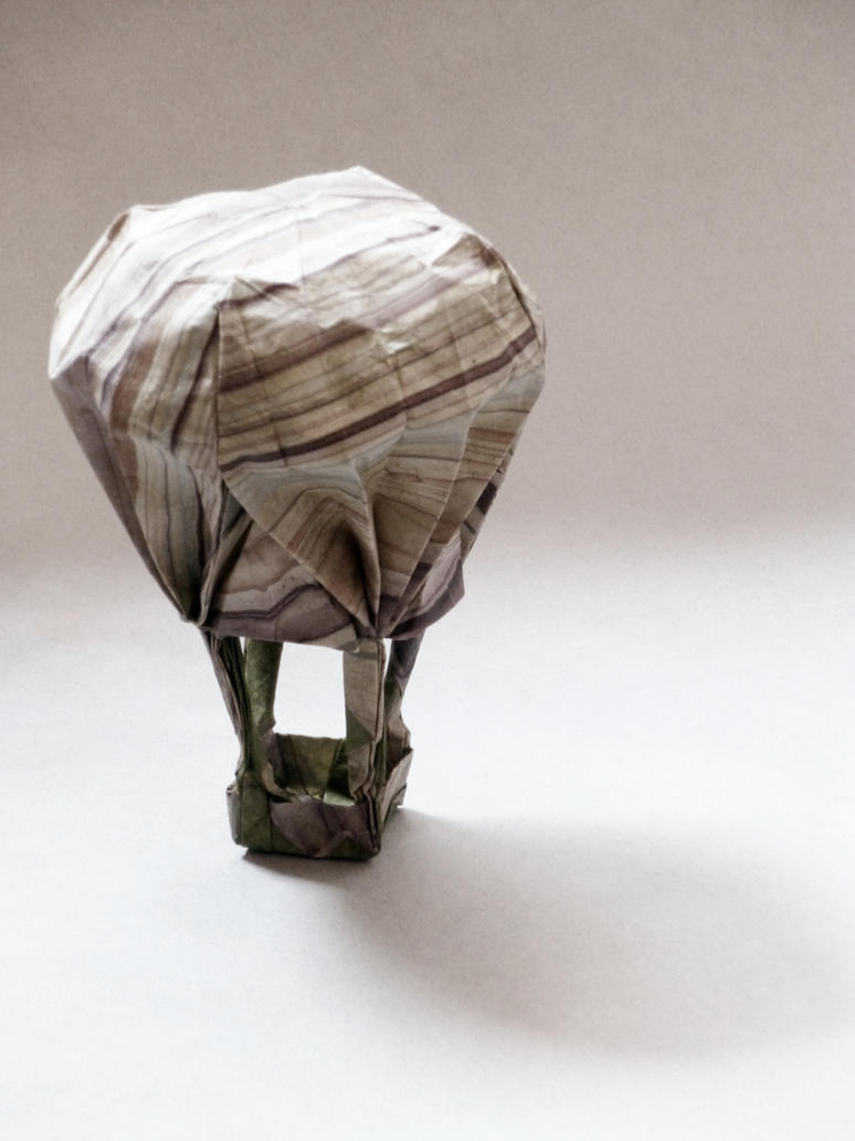 Origami hot air balloon by obeserhino on deviantart origami hot air balloon by obeserhino jeuxipadfo Choice Image