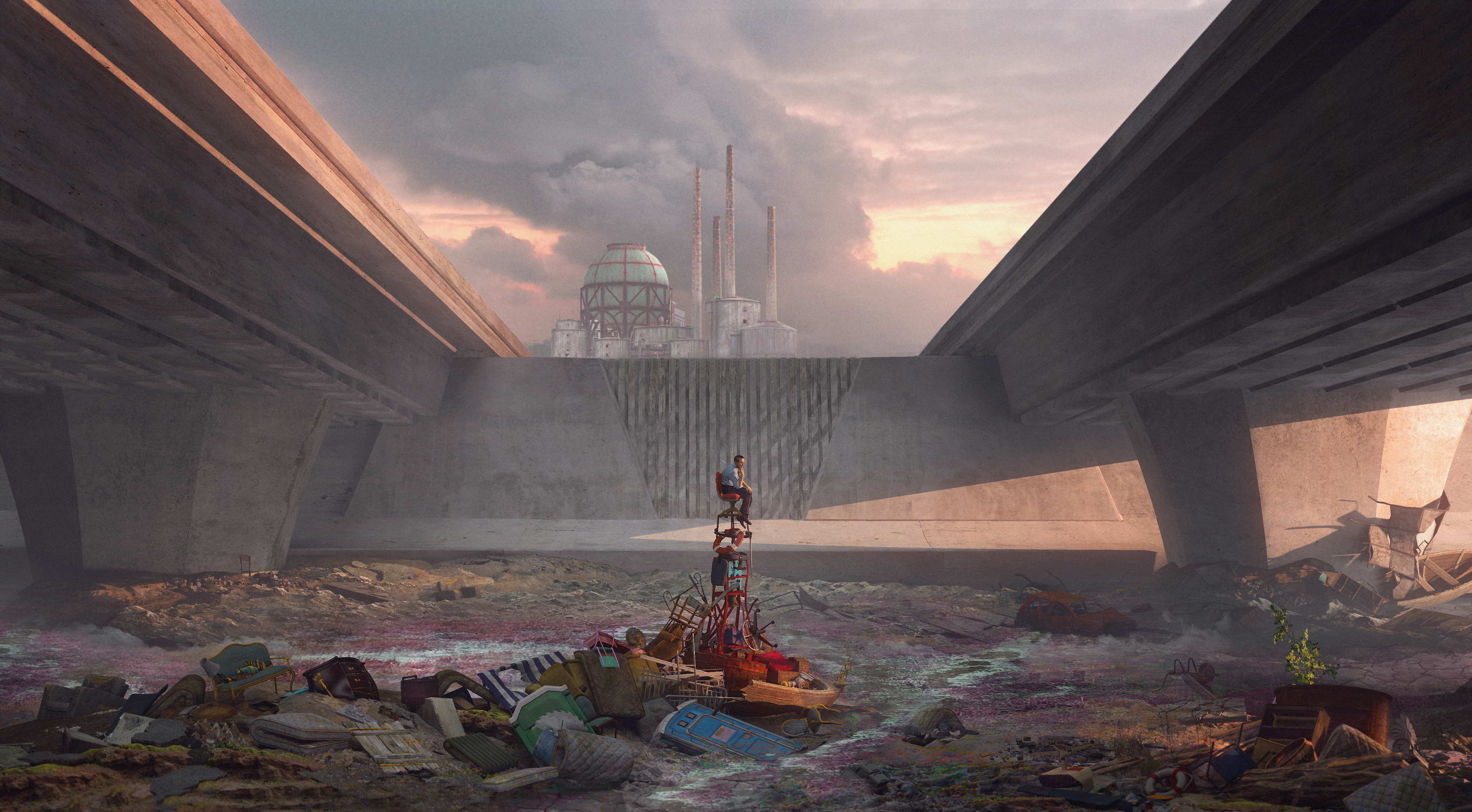 Global Annihilation 2050 - Los Angeles River by Crazy-Knife
