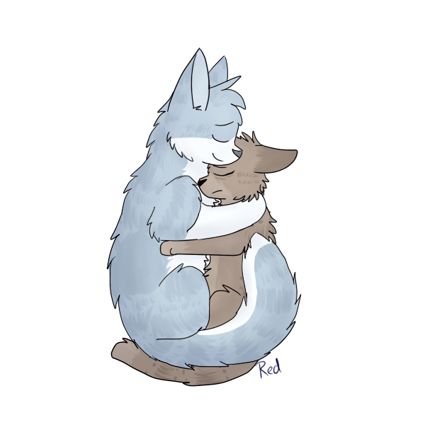 jay hug by ThatRedAndWhiteCat