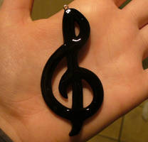 Treble Clef Sign - For Sale by paperfaceparade