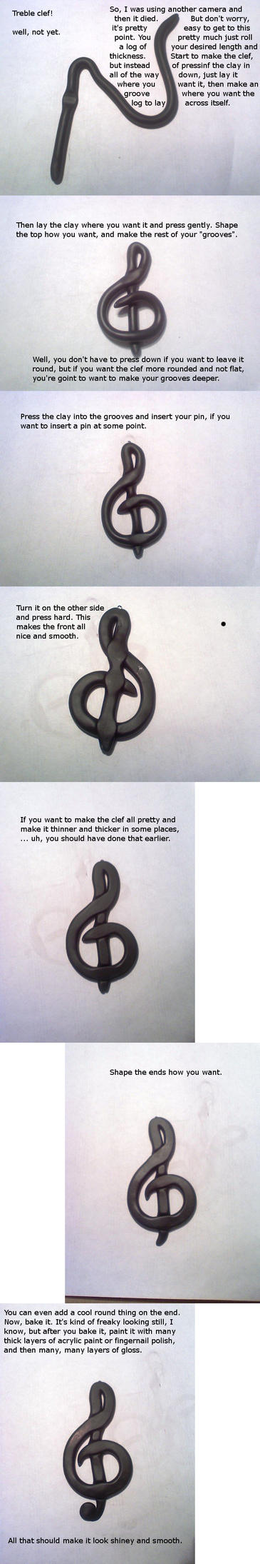 Treble Clef Poly Clay Tutorial by paperfaceparade