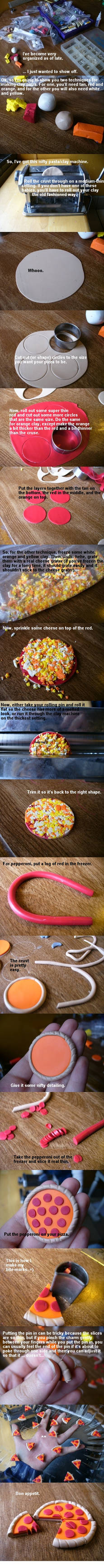 Pizza Polymer Clay Tutorial