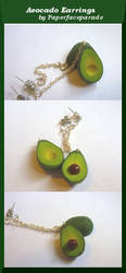 Avocado Earrings by paperfaceparade
