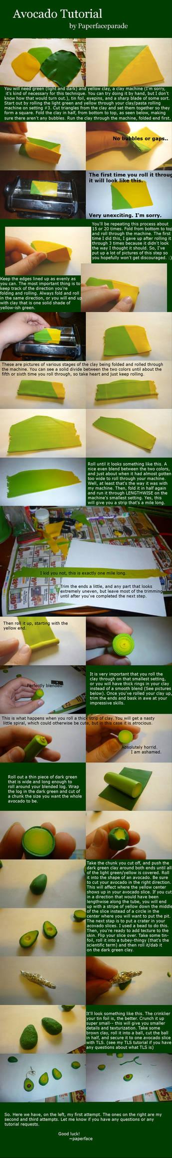 Avocado Cane/Skinner Blend Polymer Clay Tutorial