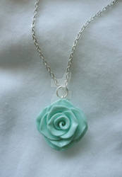 Mint Rose Necklace ~ For sale!