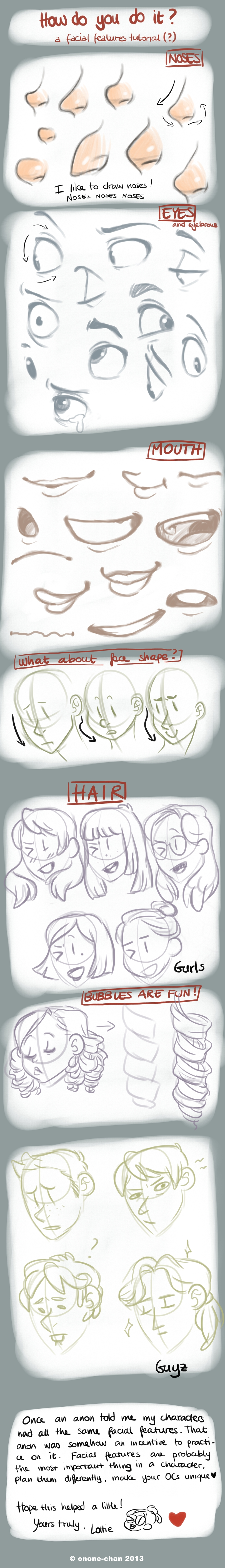Tutorial: how I draw facial features by onone-chan