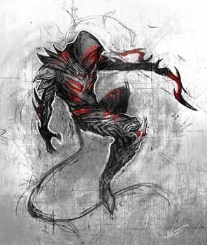 The Unamed Dremora - Sketch Commission