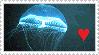 STAMP: Jellyfish Love by Ellamenopea